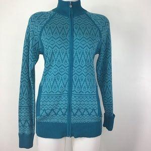 Athleta Large Front Zip Sweater